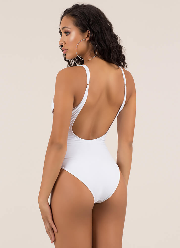Watch The Tied One-Piece Swimsuit WHITE (Final Sale)