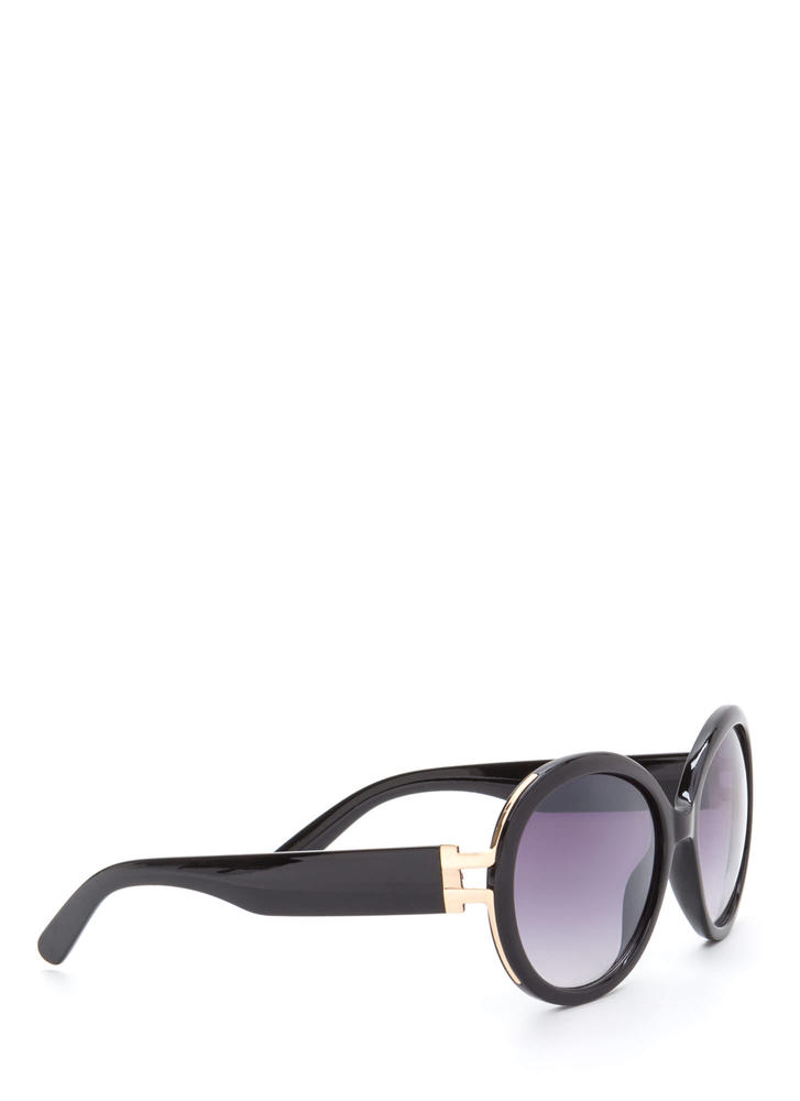 Life With Pi Round Sunglasses BLACK