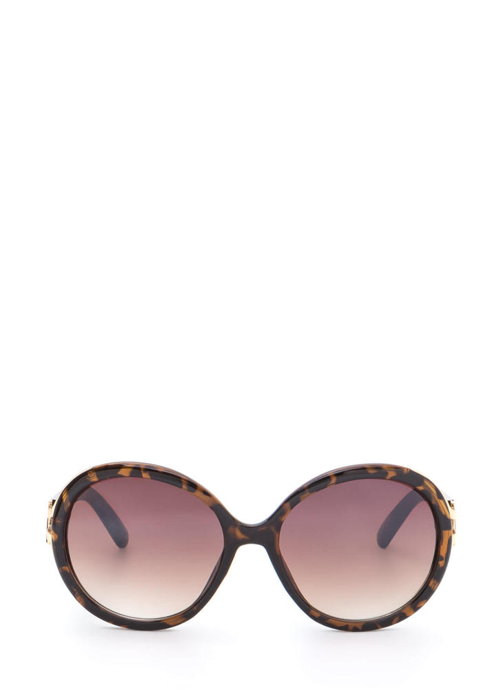 Life With Pi Round Sunglasses DKBROWN