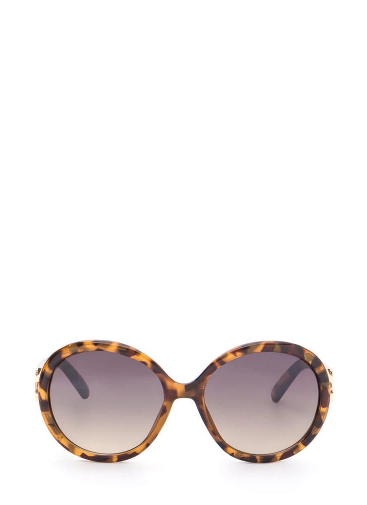 Life With Pi Round Sunglasses LTBROWN