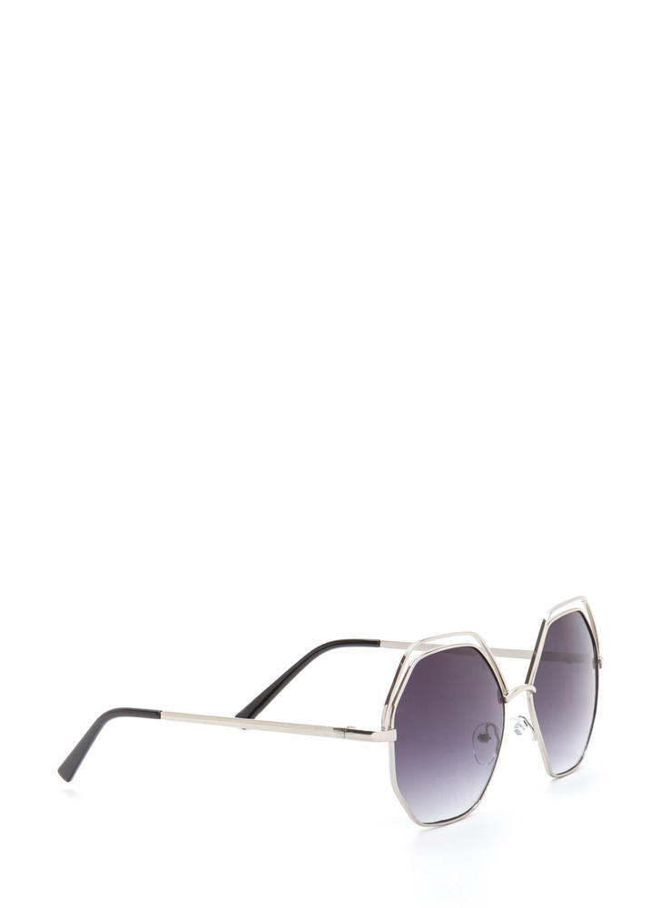 Try New Angles Mirrored Sunglasses BLACKSILVER