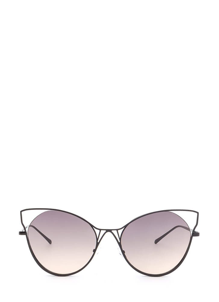 Purr-fect Cut-Out Cat Eye Sunglasses BLACK (You Saved $5)