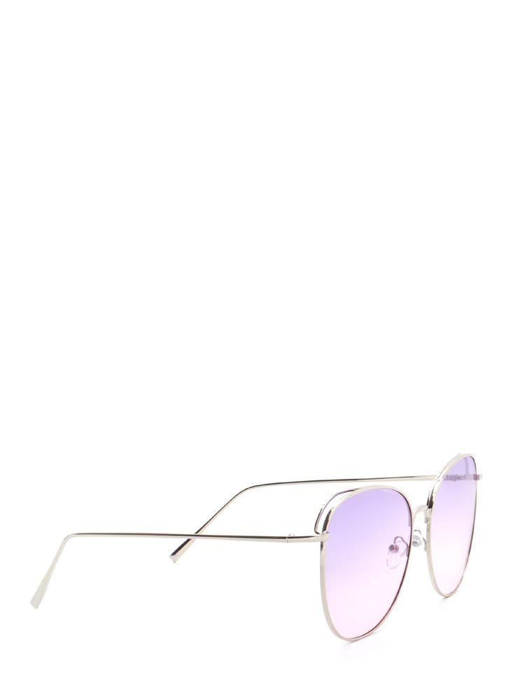 Give Us A Tint Oversized Sunglasses PURPLESLVR