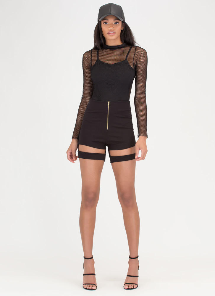 Netted Gain Sports Mesh Bodysuit BLACK (Final Sale)