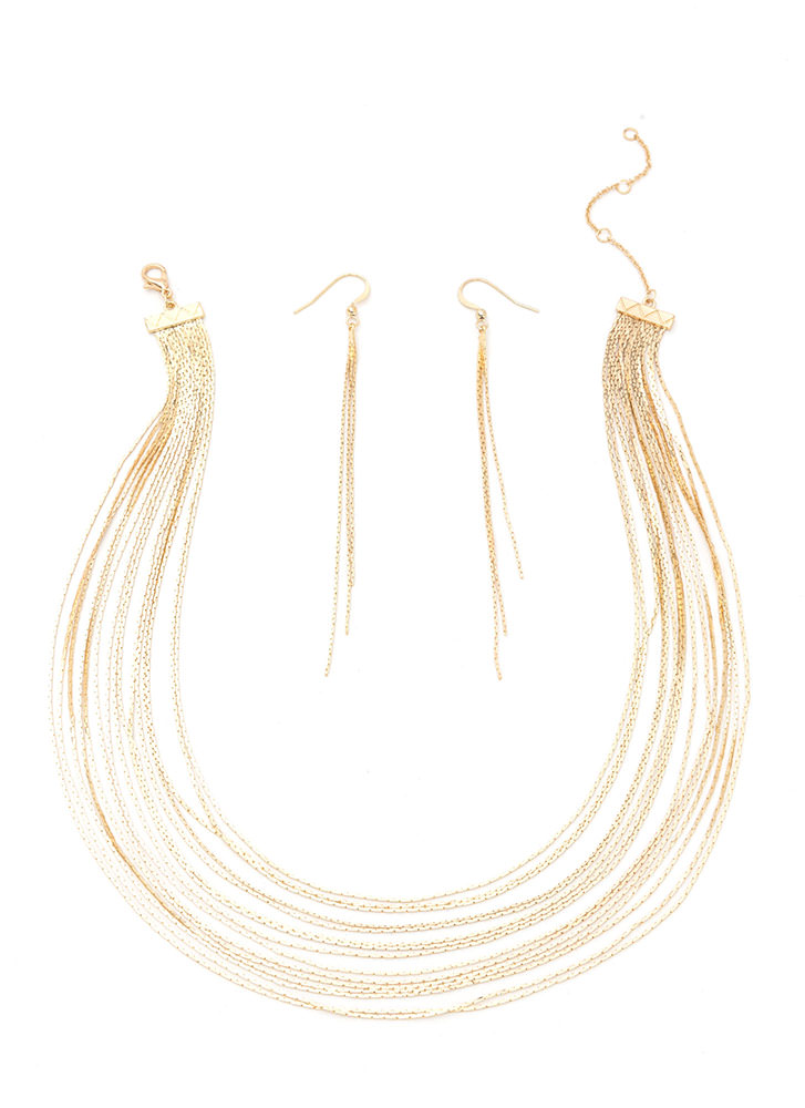 Chic Highlight Layered Necklace Set GOLD
