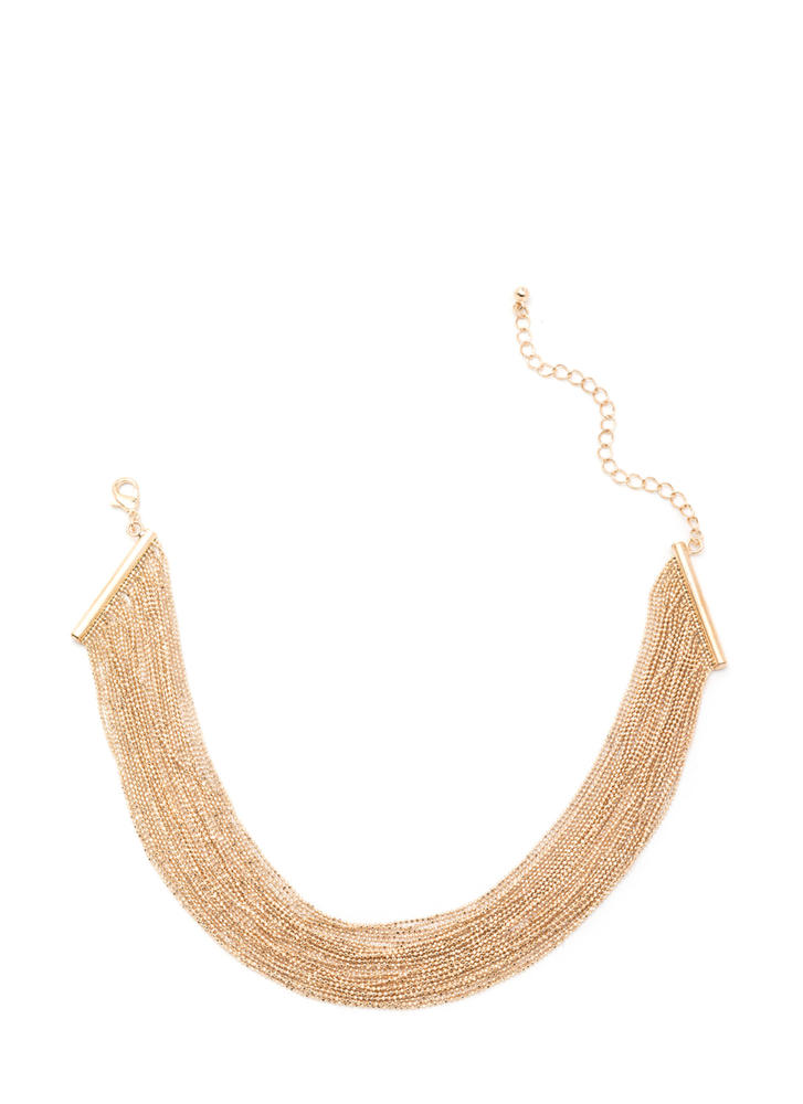 Totally Brilliant Layered Chain Necklace GOLD