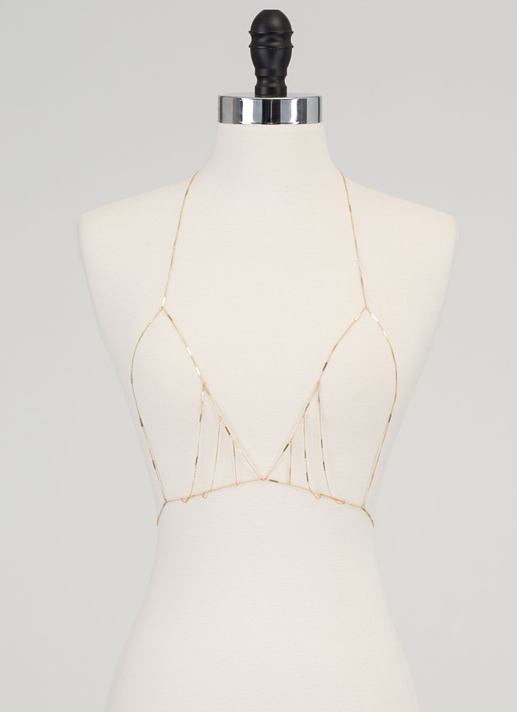 Fashion Capital Draped Body Chain GOLD (Final Sale)