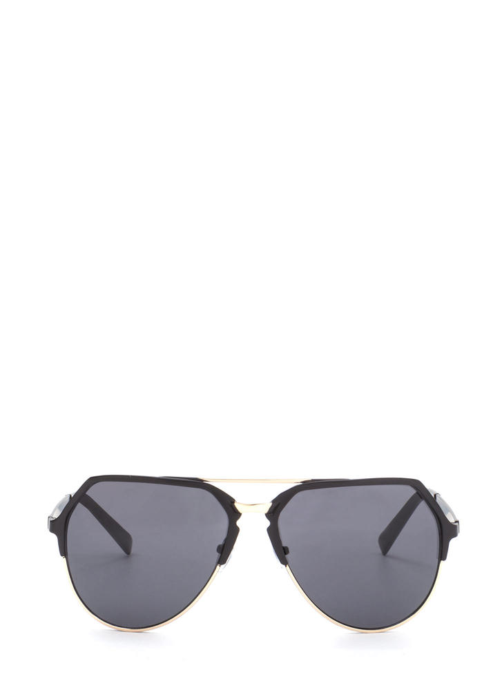 On The Go Top Bar Sunglasses BLACKGOLD (You Saved $7)