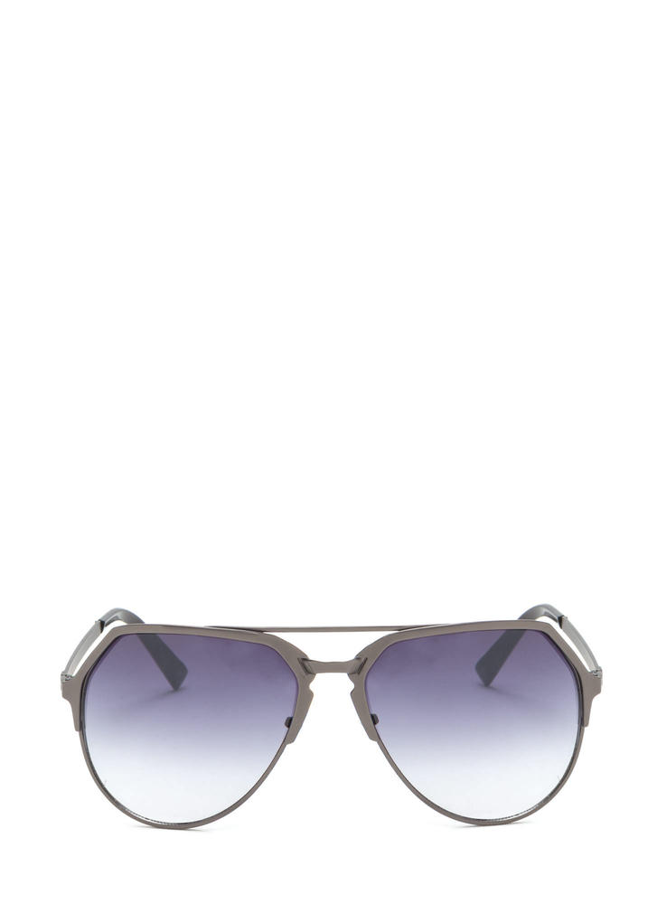 On The Go Top Bar Sunglasses BLACKPEWTER (You Saved $7)