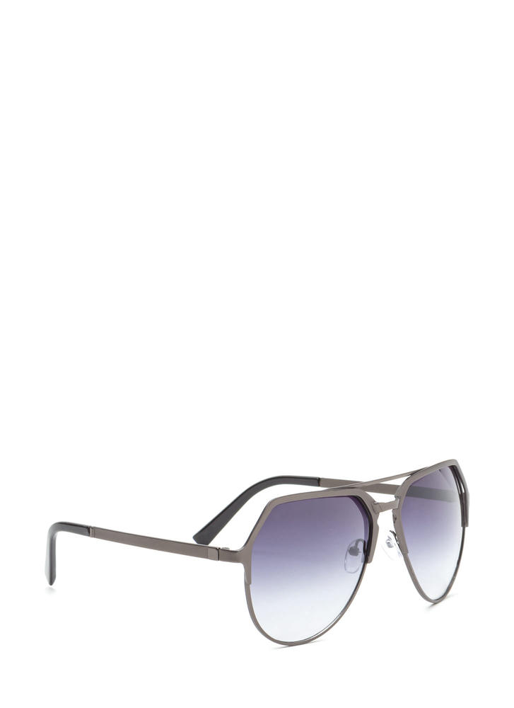 On The Go Top Bar Sunglasses BLACKPEWTER