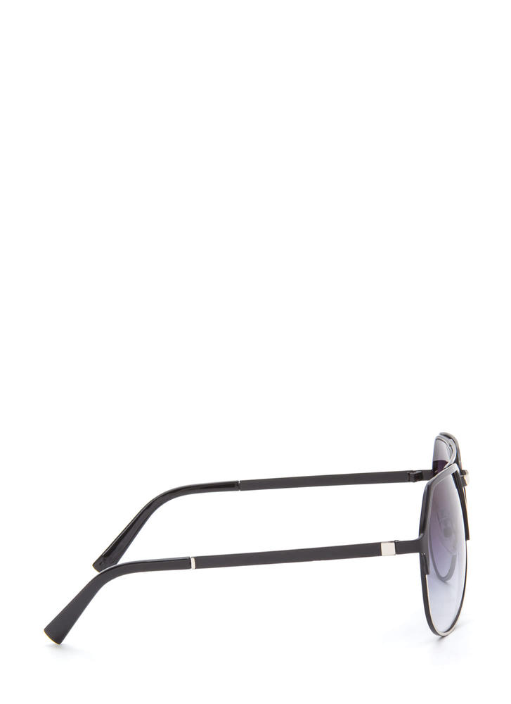 On The Go Top Bar Sunglasses BLACKSILVER