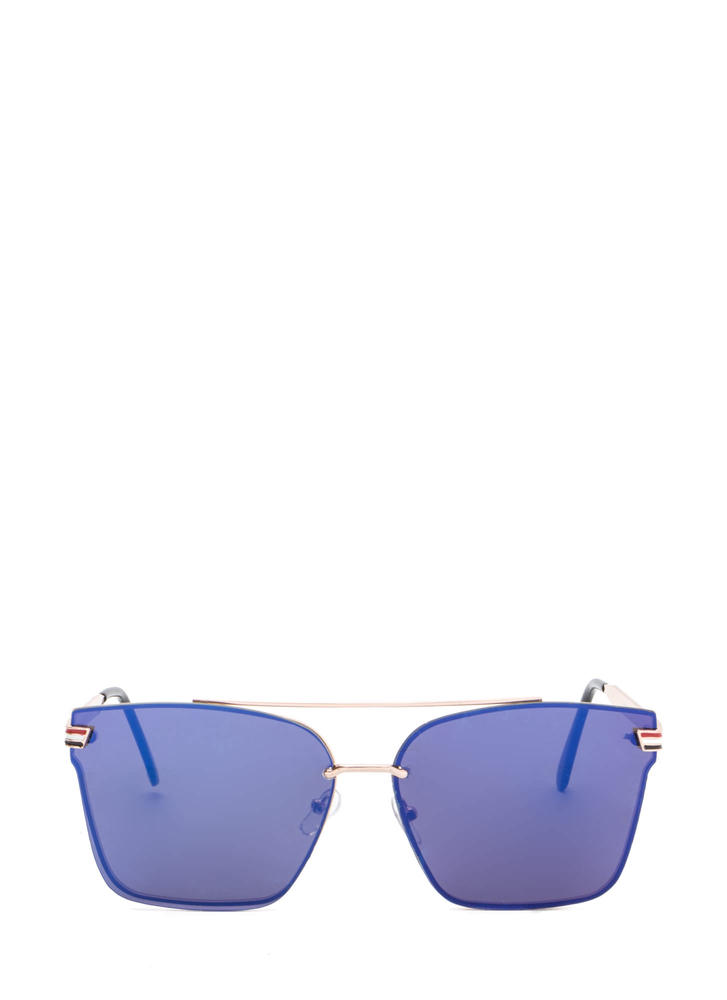Riviera Trip Top Bar Sunglasses BLUEGOLD