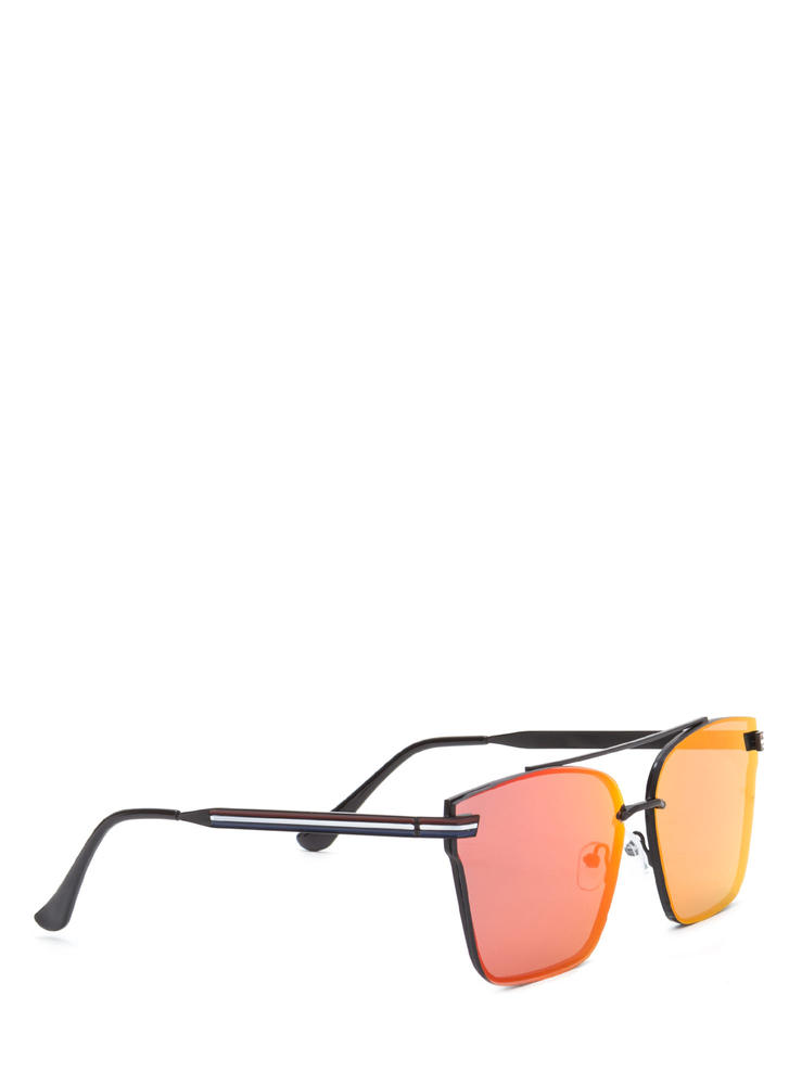 Riviera Trip Top Bar Sunglasses PINKBLACK
