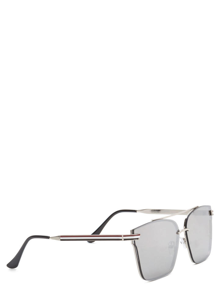 Riviera Trip Top Bar Sunglasses SILVER