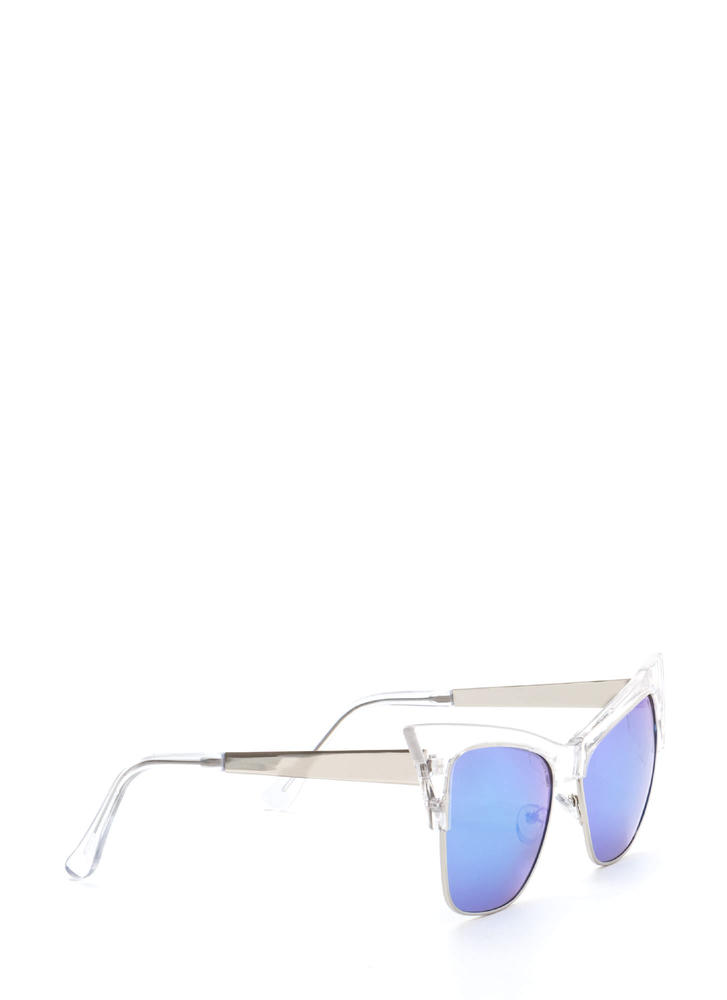 Cat's Meow Brow Bar Sunglasses BLUECLEAR
