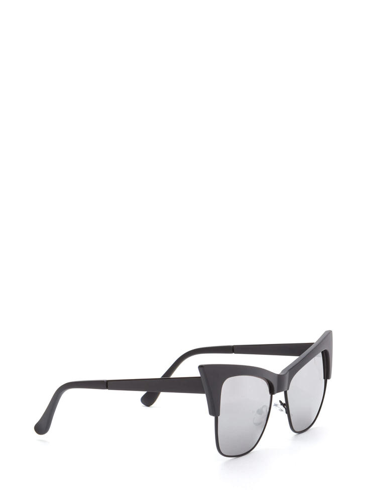 Cat's Meow Brow Bar Sunglasses SILVERBLACK