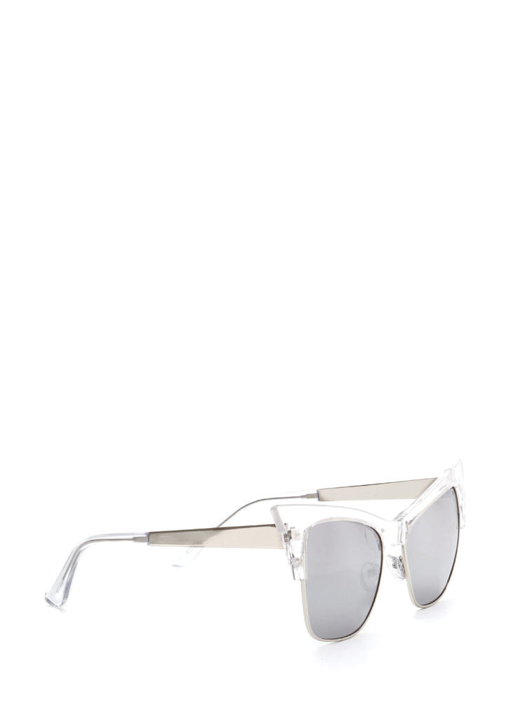Cat's Meow Brow Bar Sunglasses SILVERCLEAR