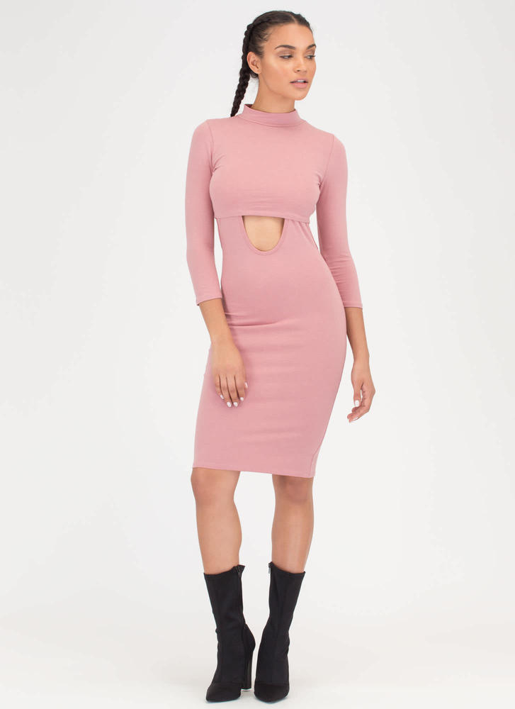 471af9a0b8 Jumper Round Two-Piece Mockneck Dress BLUSH LTBLUE - GoJane.com
