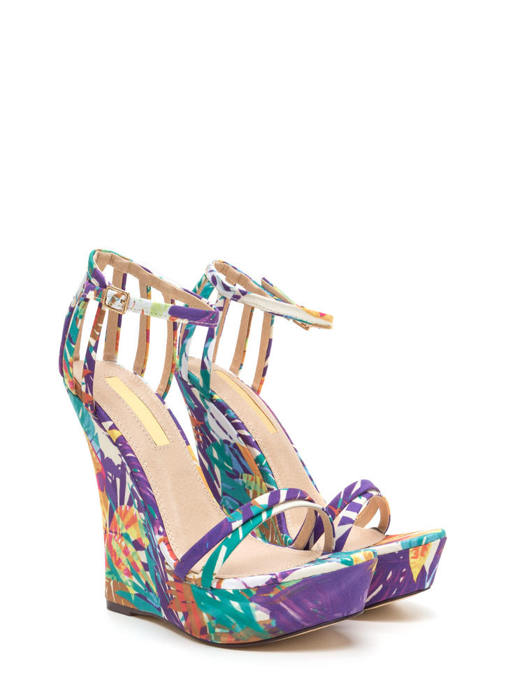 Sky's The Limit Tropical Platform Wedges MULTI
