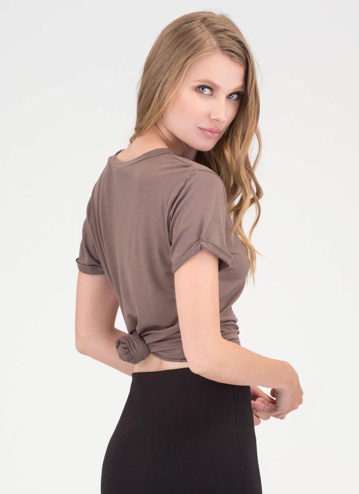Get It Off Your Chest Cut-Out Top MOCHA
