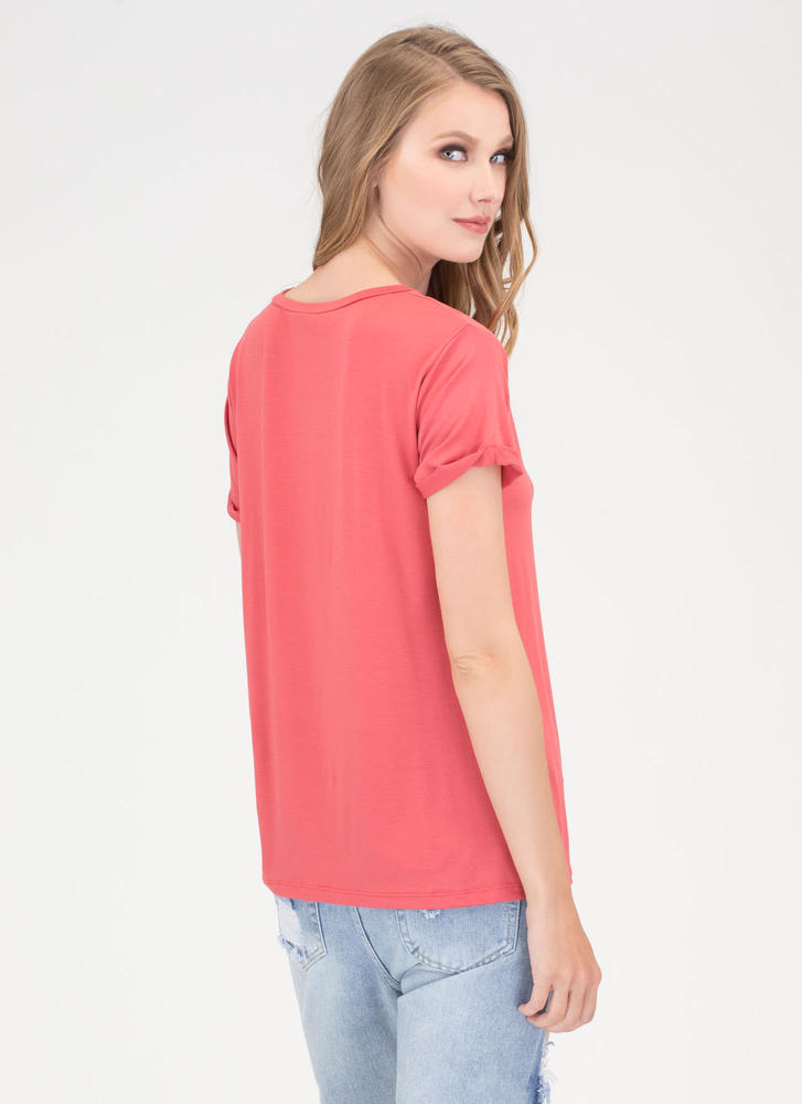 Get It Off Your Chest Cut-Out Top TOMATO