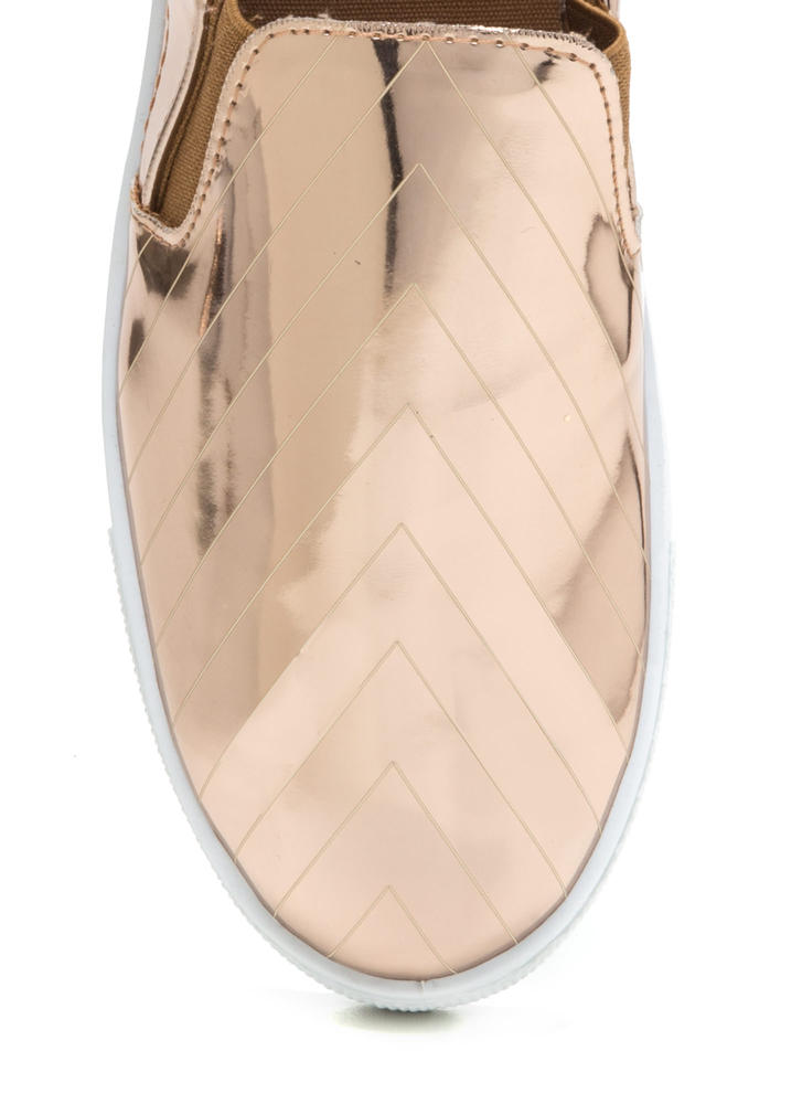 Have A Point Metallic Slip-On Sneakers ROSEGOLD (Final Sale)