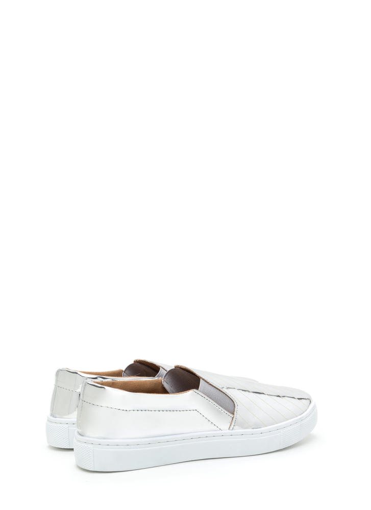 Have A Point Metallic Slip-On Sneakers SILVER