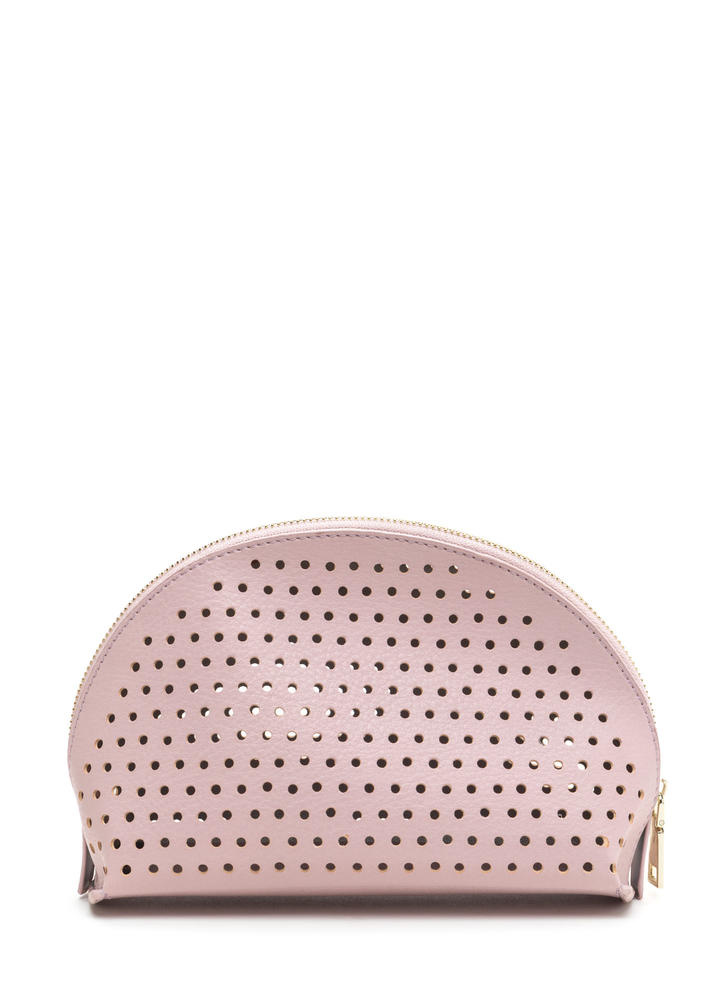 Makeup Junkie Perforated Pouch ROSE
