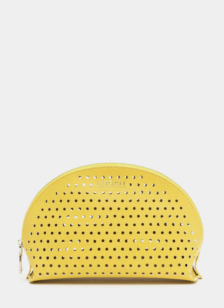 Makeup Junkie Perforated Pouch YELLOW
