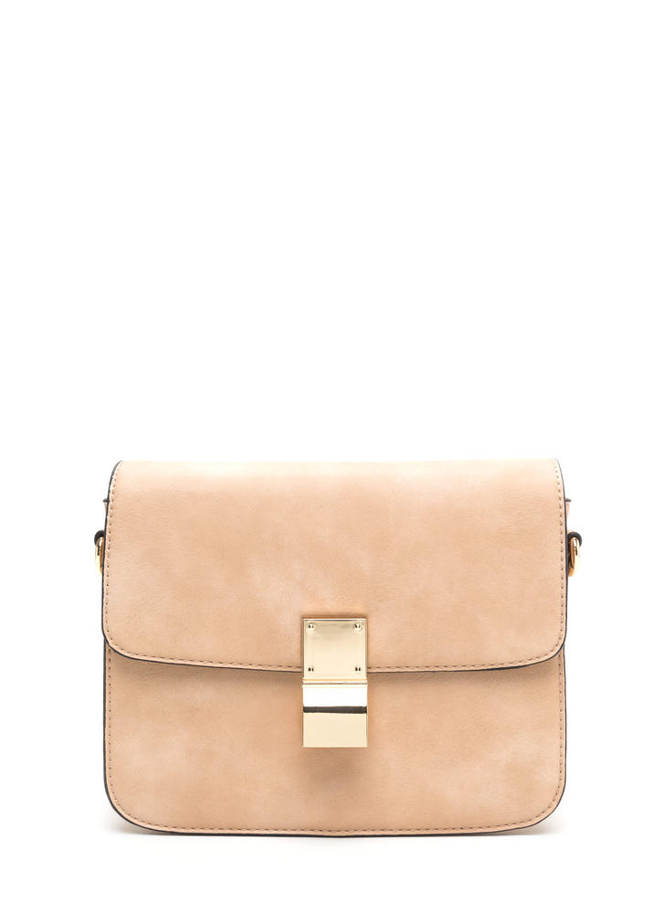 Chic To Me Faux Leather Crossbody Bag BEIGE