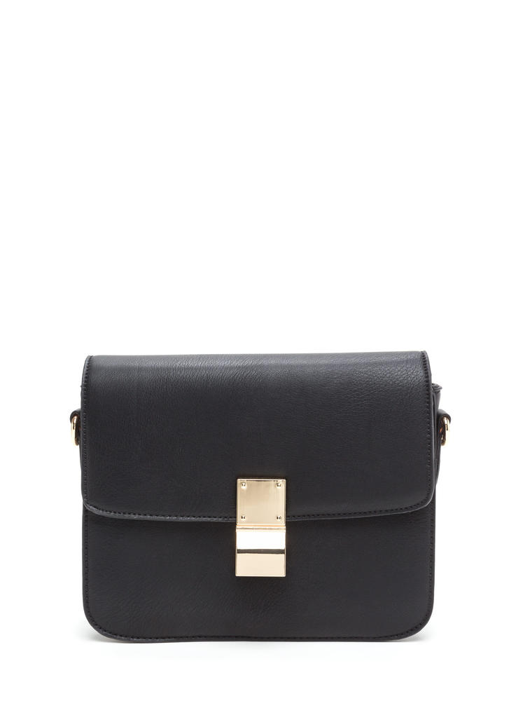 Chic To Me Faux Leather Crossbody Bag BLACK (Final Sale)