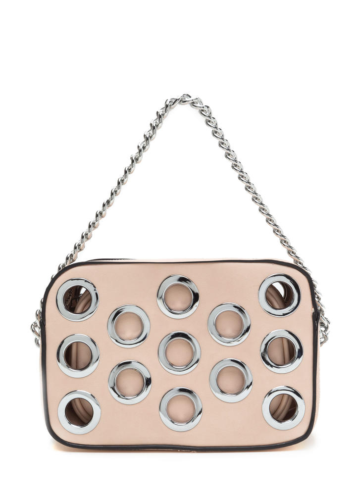 Hole Lot Of Fun Faux Leather Bag PINK