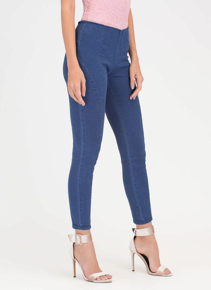 Go Everywhere Skinny Pants DKBLUE