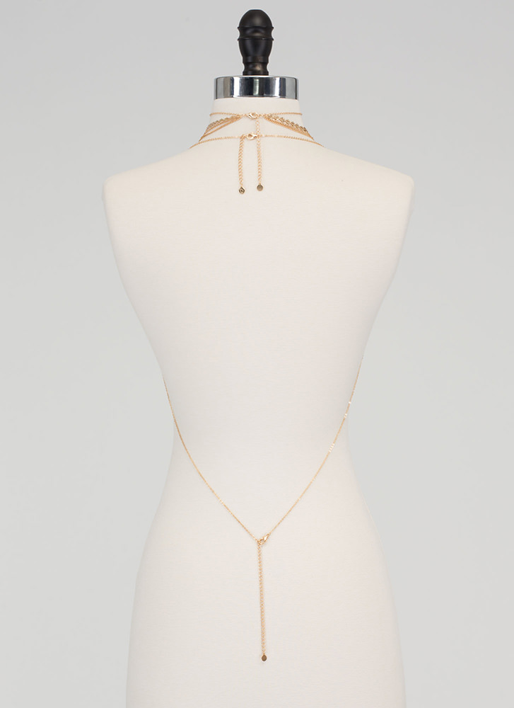 Smart Move Body Chain 'N Necklace Set GOLD
