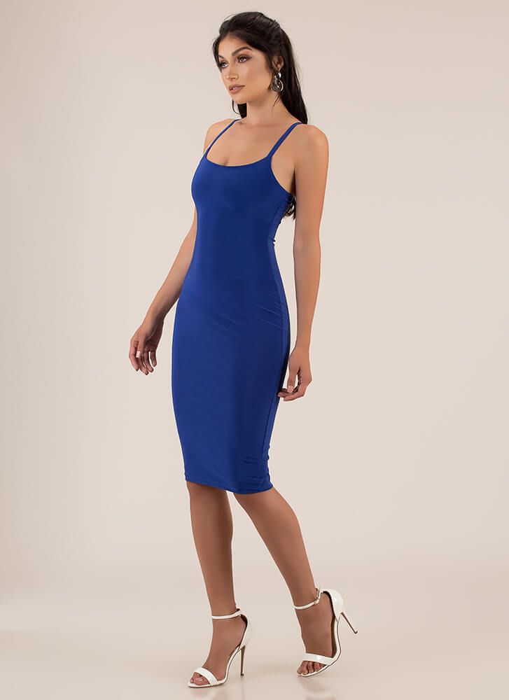 Lasting Impression Cami Midi Dress ROYAL