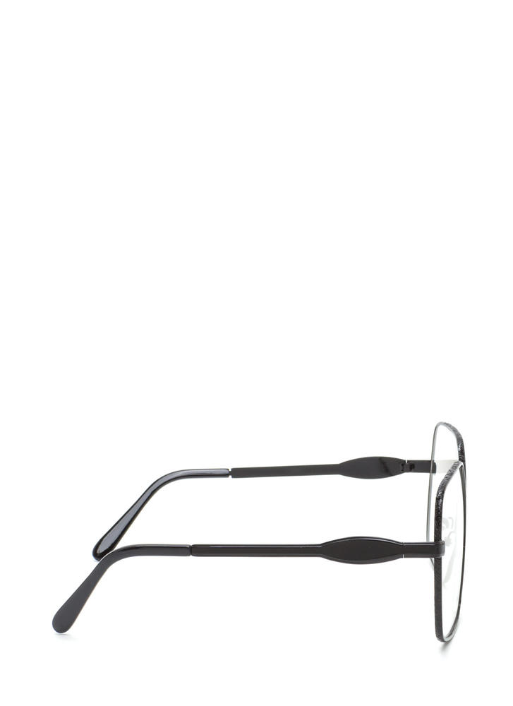 Geek Out Brow Bar Glasses BLACK