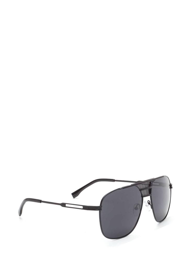 Look The Part Aviator Sunglasses BLACKBLACK