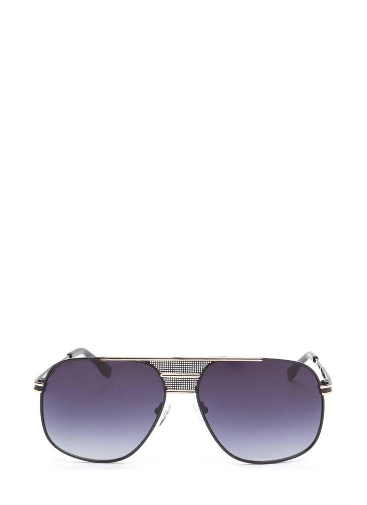 Look The Part Aviator Sunglasses BLACKGOLD