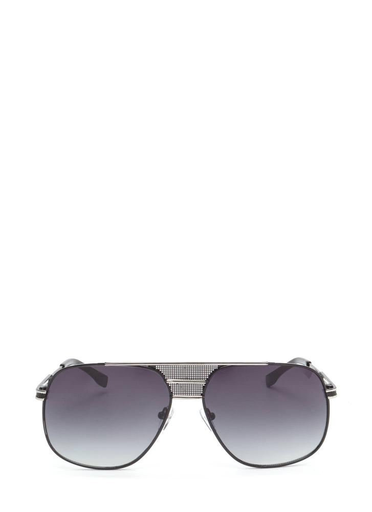 Look The Part Aviator Sunglasses BLACKSILVER