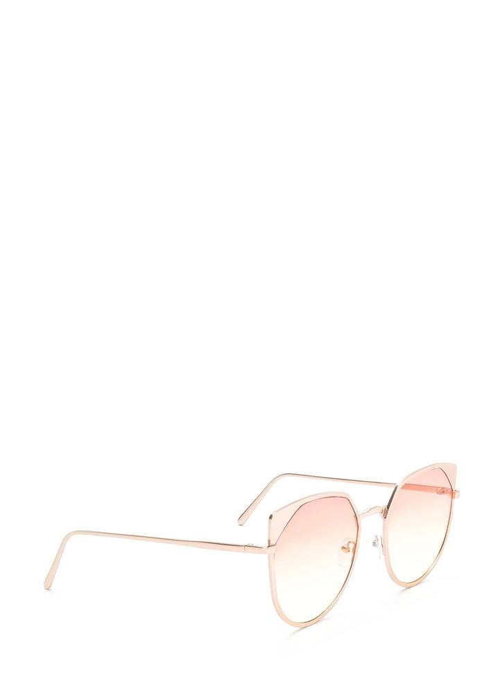 Sunny View Rounded Sunglasses ORANGE