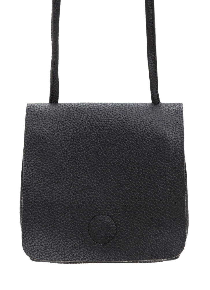 Daily Dose Faux Leather Crossbody Bag BLACK