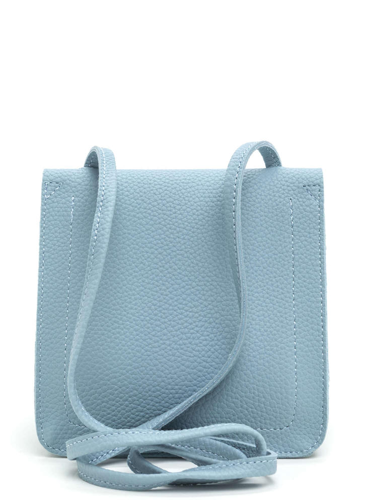 Daily Dose Faux Leather Crossbody Bag BLUE
