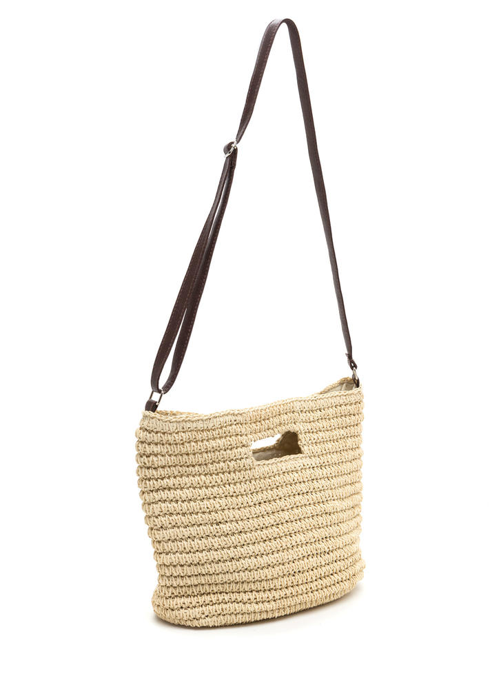 Rustic Lifestyle Woven Straw Bag NATURAL (Final Sale)