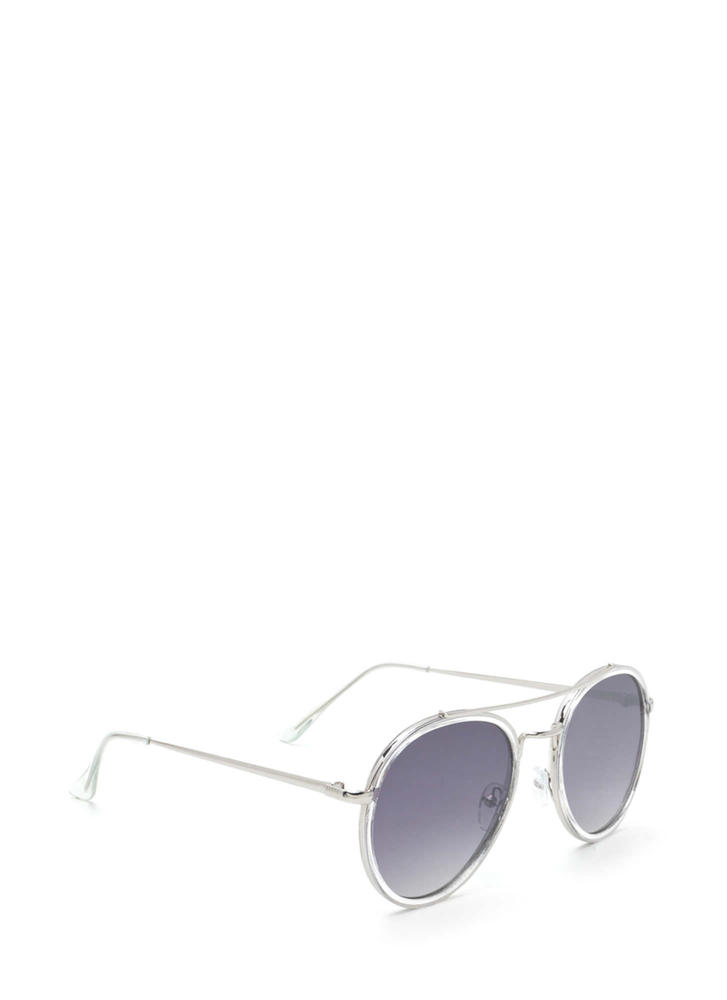 Keep Your Cool Mirrored Sunglasses BLACKSILVER