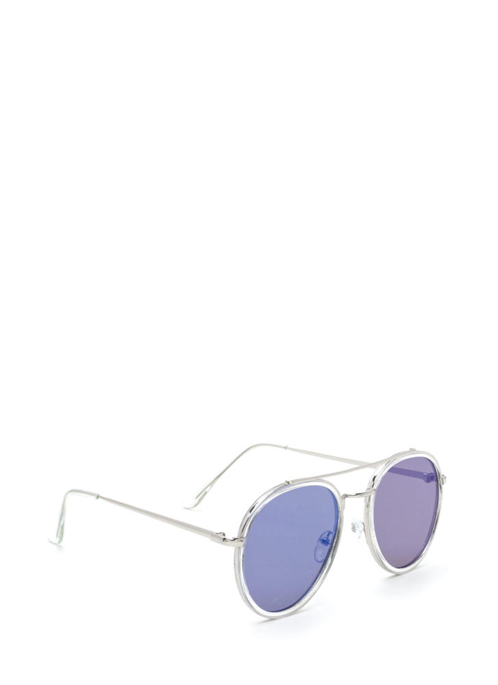 Keep Your Cool Mirrored Sunglasses BLUESILVER