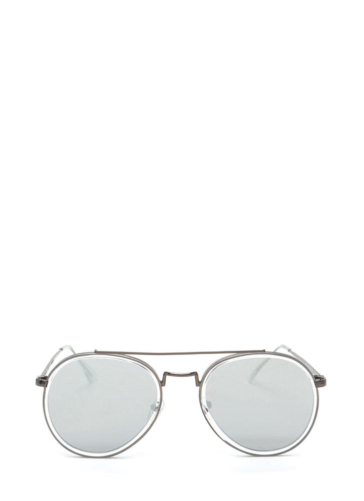 Keep Your Cool Mirrored Sunglasses GREYGUNMETAL