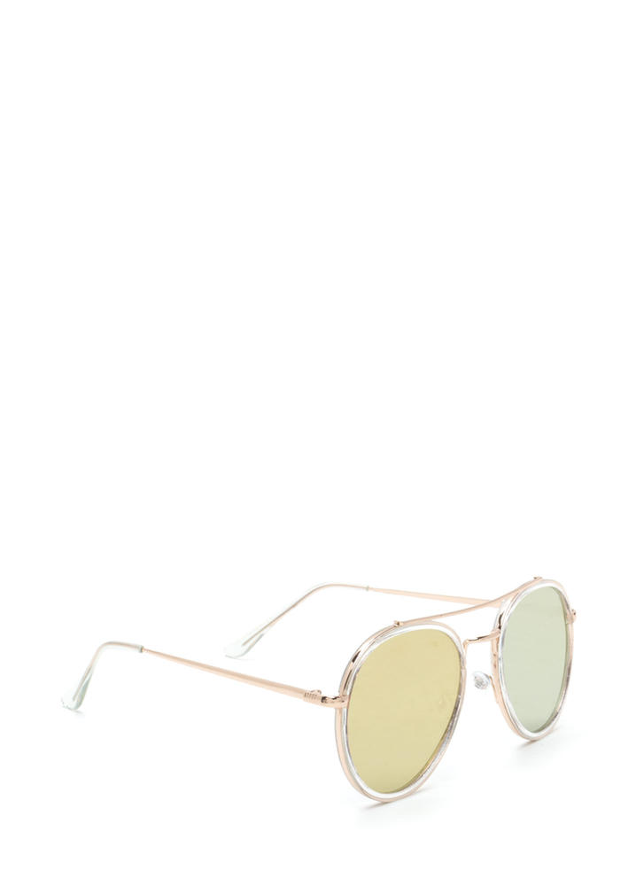 Keep Your Cool Mirrored Sunglasses ROSEGOLD