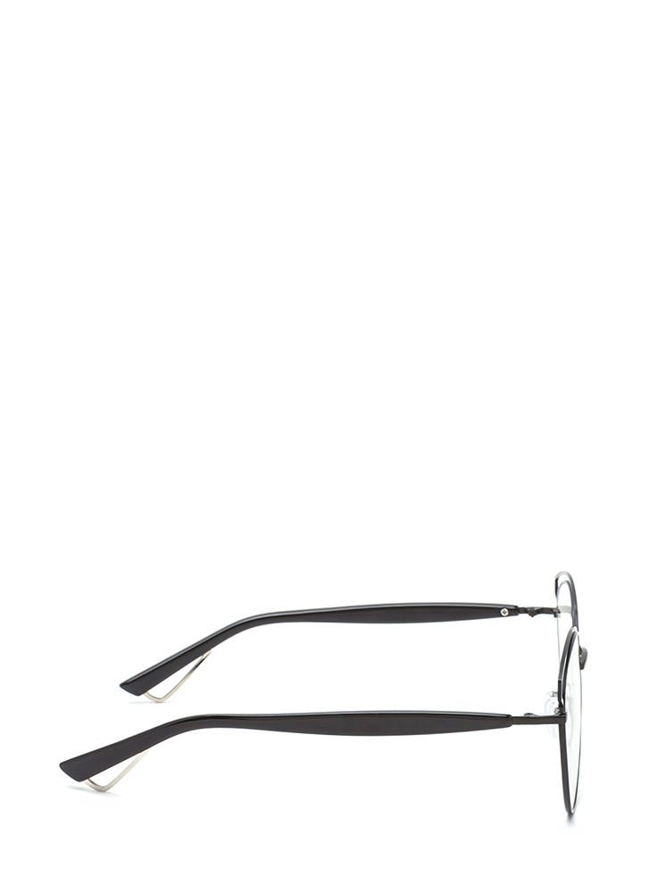 Next Round Clear Retro Glasses BLACK (You Saved $7)