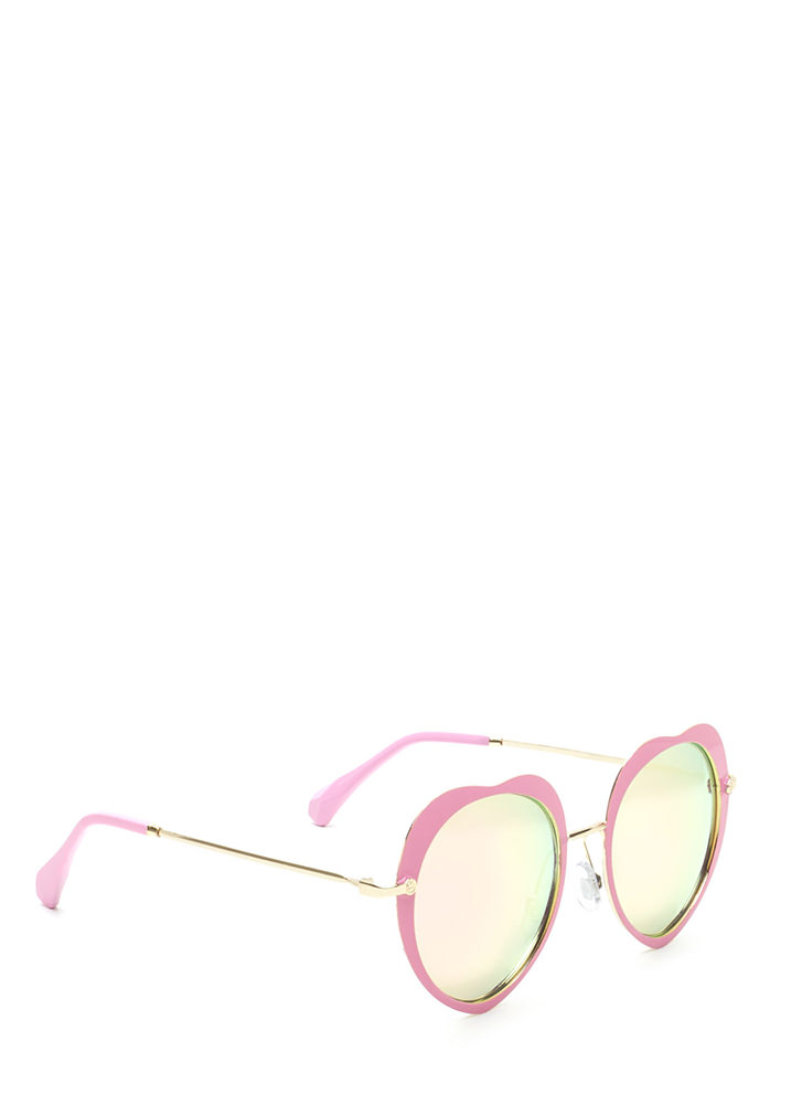 Cross My Heart Mirrored Sunglasses PINK