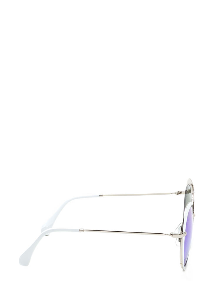 Cross My Heart Mirrored Sunglasses WHITE